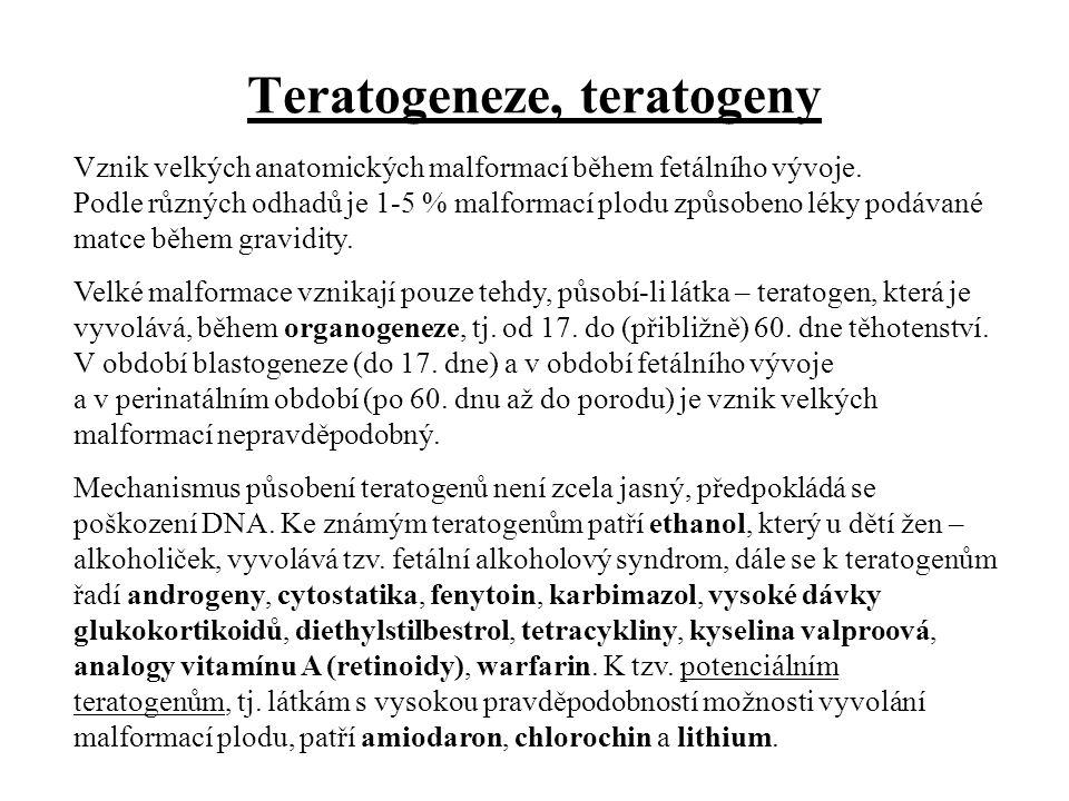 Teratogeneze, teratogeny
