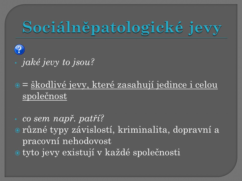Sociálněpatologické jevy