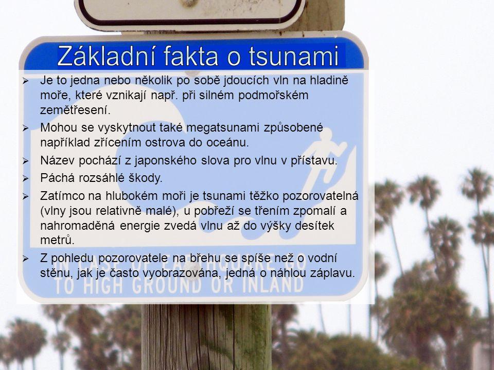 Základní fakta o tsunami
