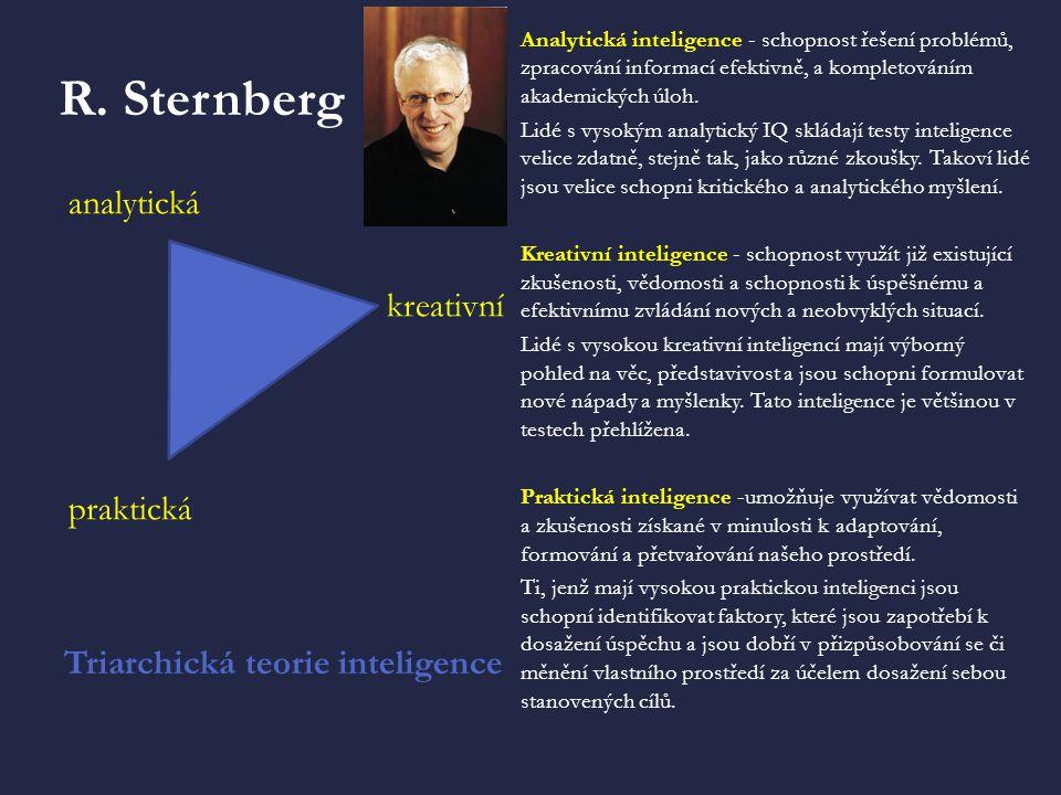 R. Sternberg analytická kreativní praktická