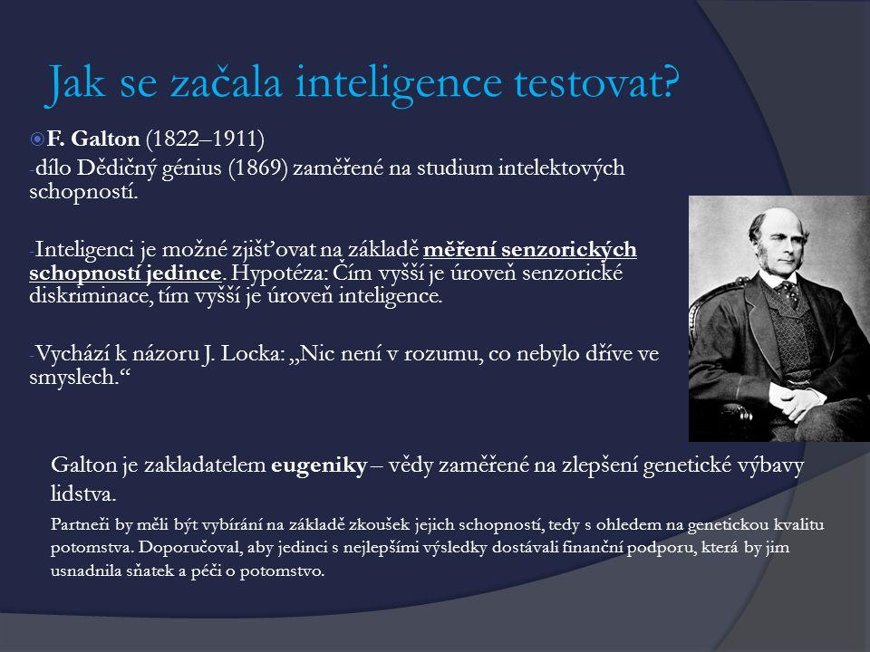 Jak se začala inteligence testovat
