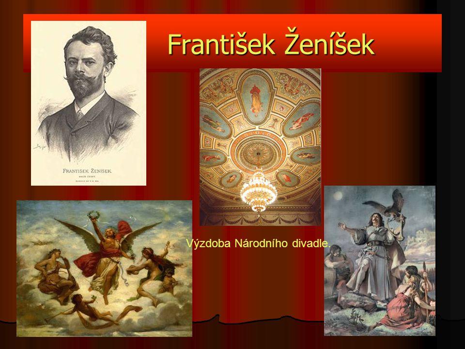František Ženíšek Výzdoba Národního divadle.