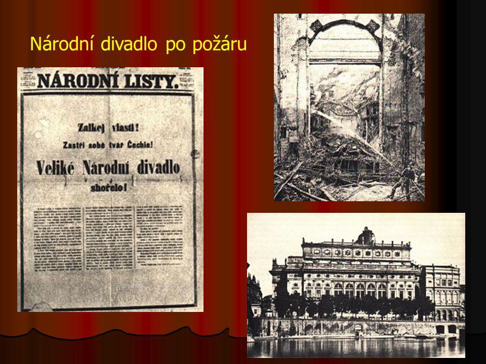 Národní divadlo po požáru