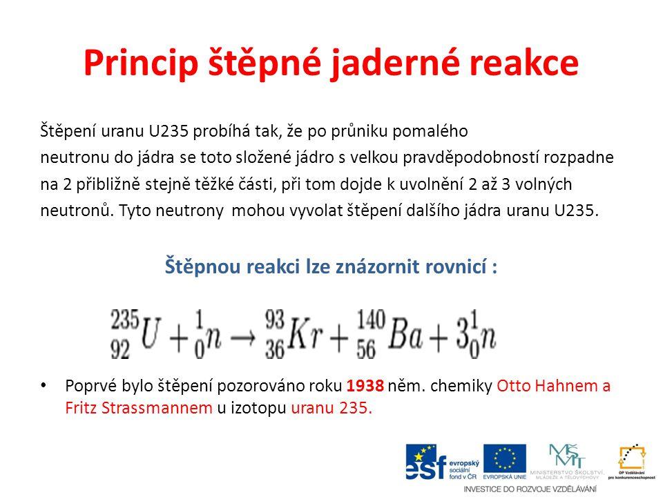 Princip štěpné jaderné reakce