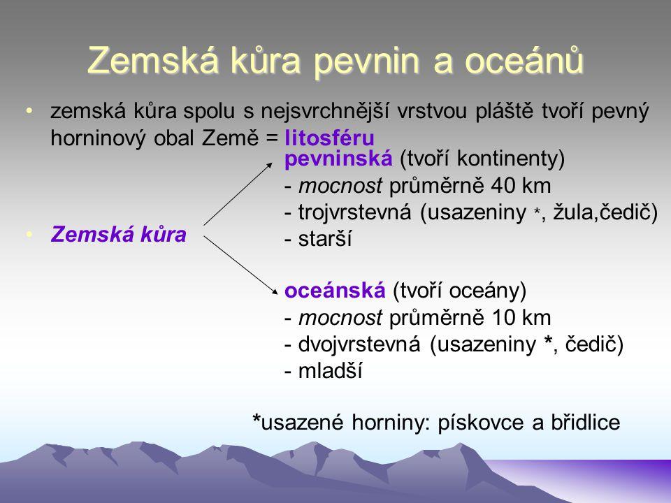 Zemská kůra pevnin a oceánů