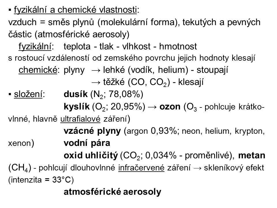 ▪ fyzikální a chemické vlastnosti: