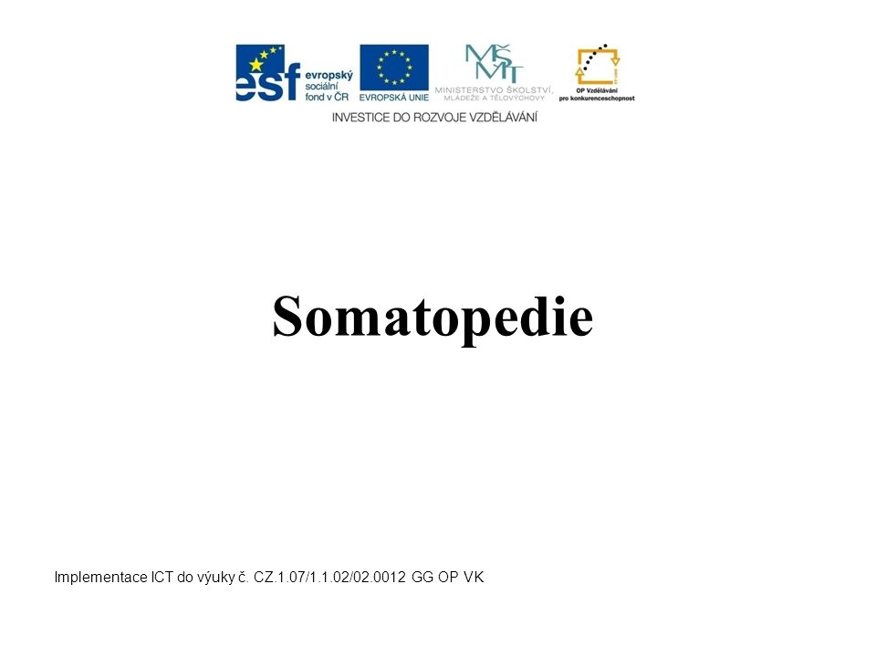 Somatopedie Implementace ICT do výuky č. CZ.1.07/1.1.02/02.0012 GG OP VK