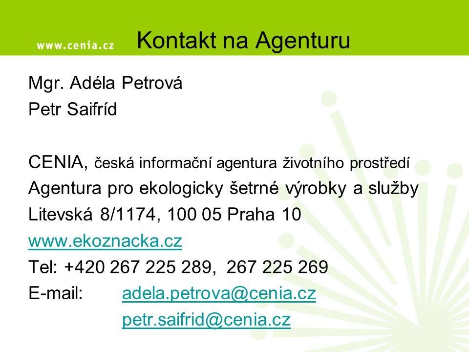 Kontakt na Agenturu Mgr. Adéla Petrová Petr Saifríd