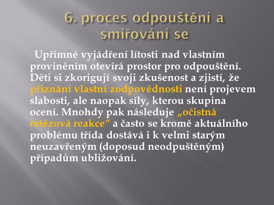 6. proces odpouštění a smiřování se