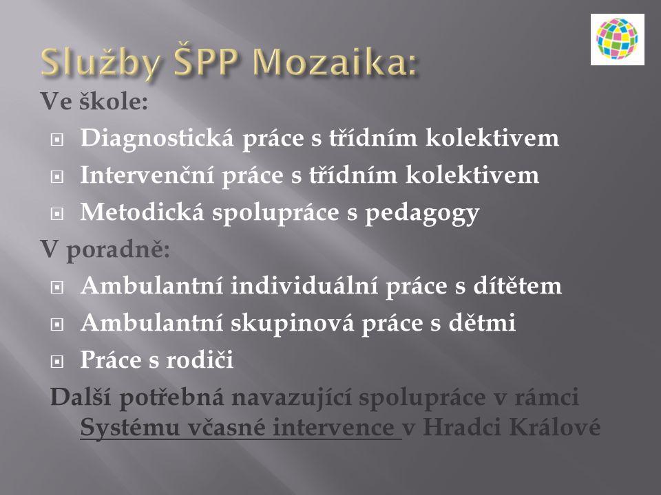 Služby ŠPP Mozaika: Ve škole: Diagnostická práce s třídním kolektivem