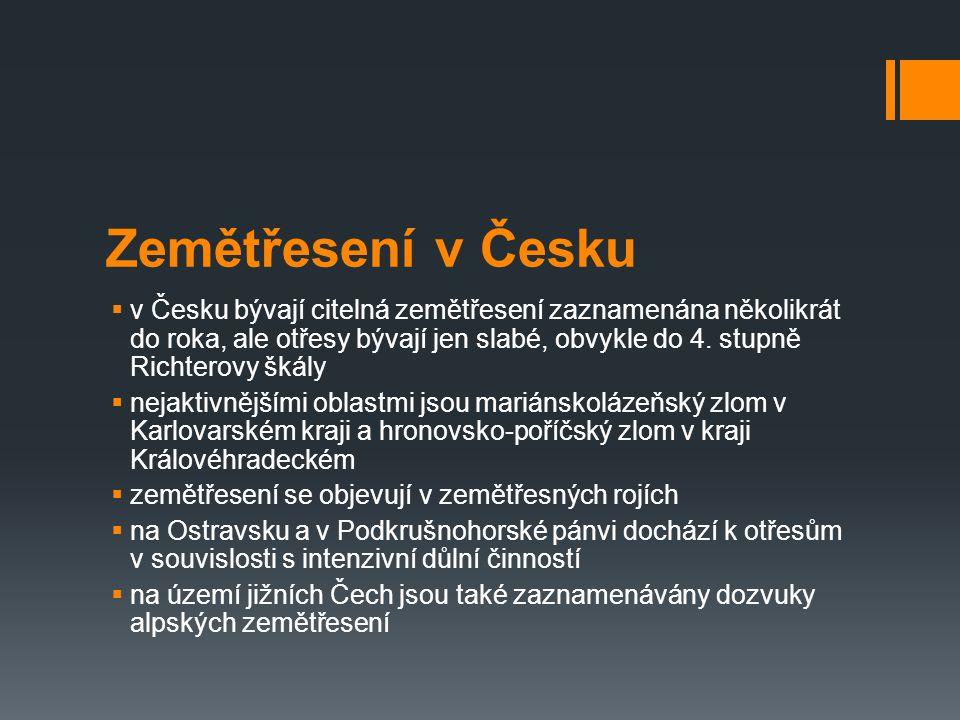 Zemětřesení v Česku