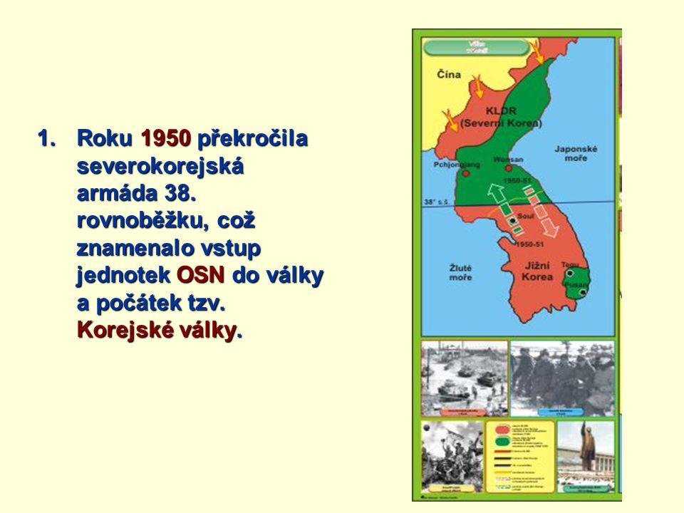 Roku 1950 překročila severokorejská armáda 38