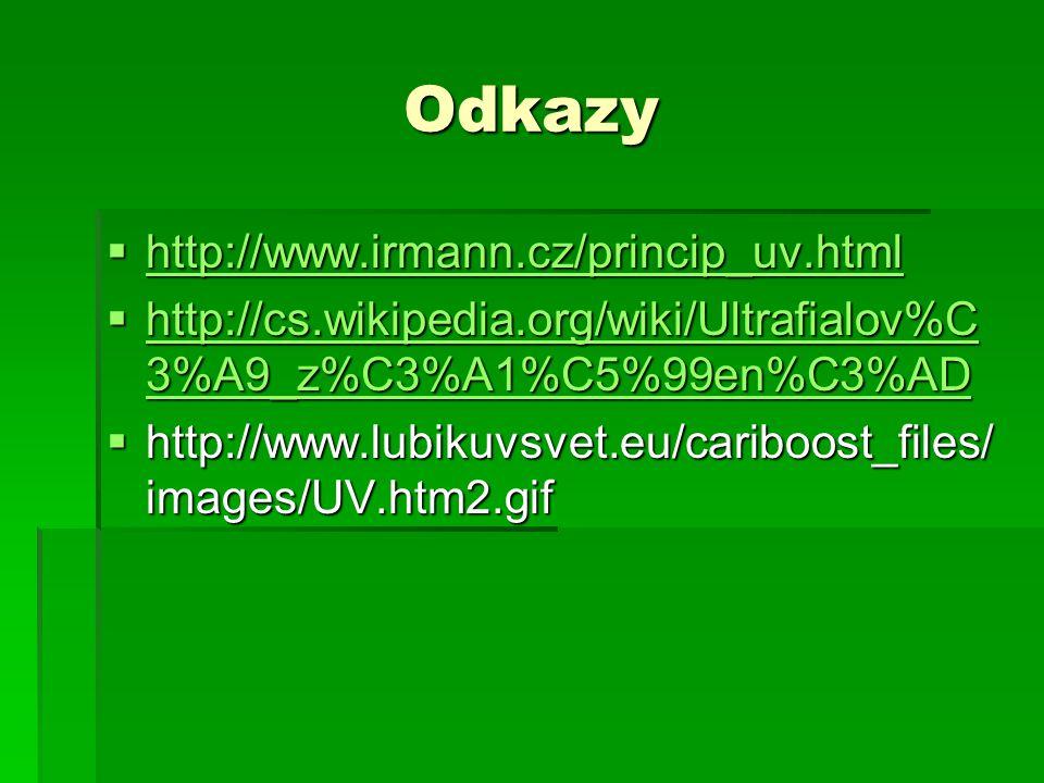 Odkazy http://www.irmann.cz/princip_uv.html