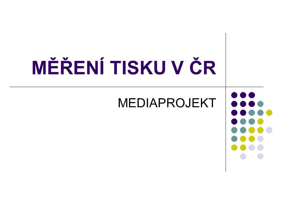 MĚŘENÍ TISKU V ČR MEDIAPROJEKT