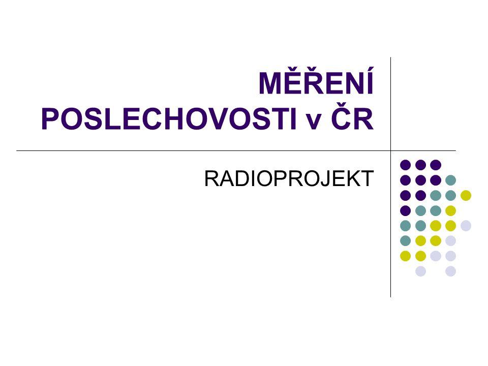 MĚŘENÍ POSLECHOVOSTI v ČR