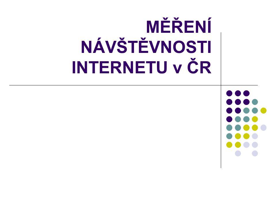 MĚŘENÍ NÁVŠTĚVNOSTI INTERNETU v ČR