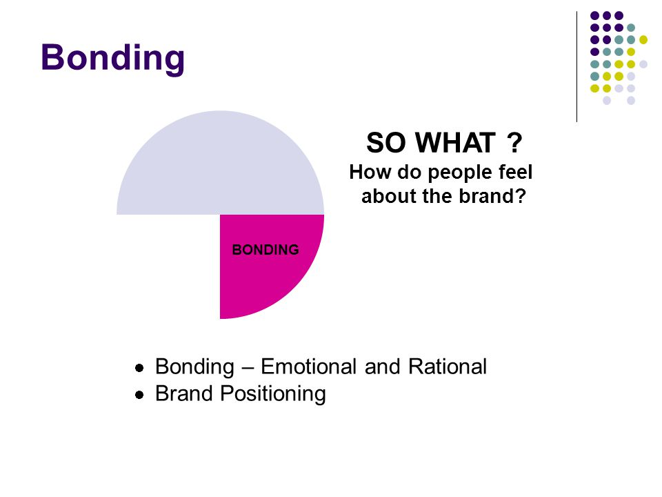 Bonding SO WHAT Bonding – Emotional and Rational Brand Positioning