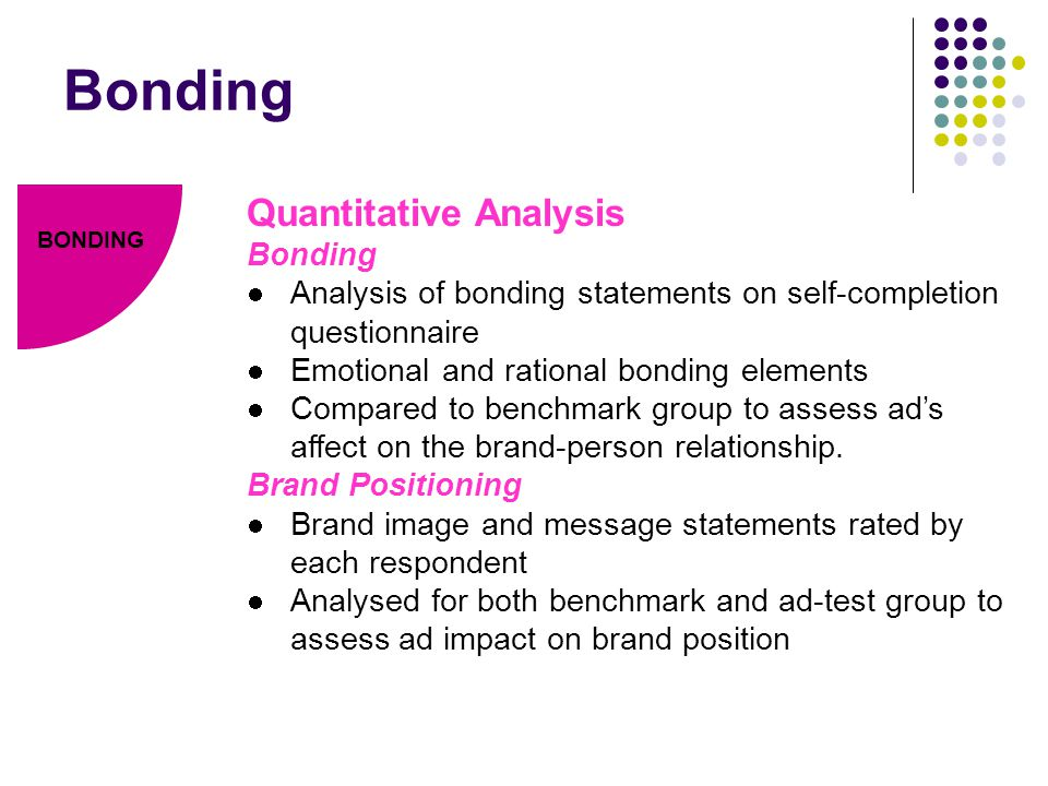 Bonding Quantitative Analysis Bonding