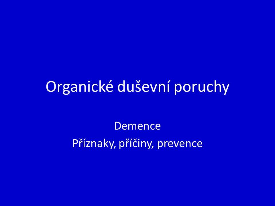 Organické duševní poruchy