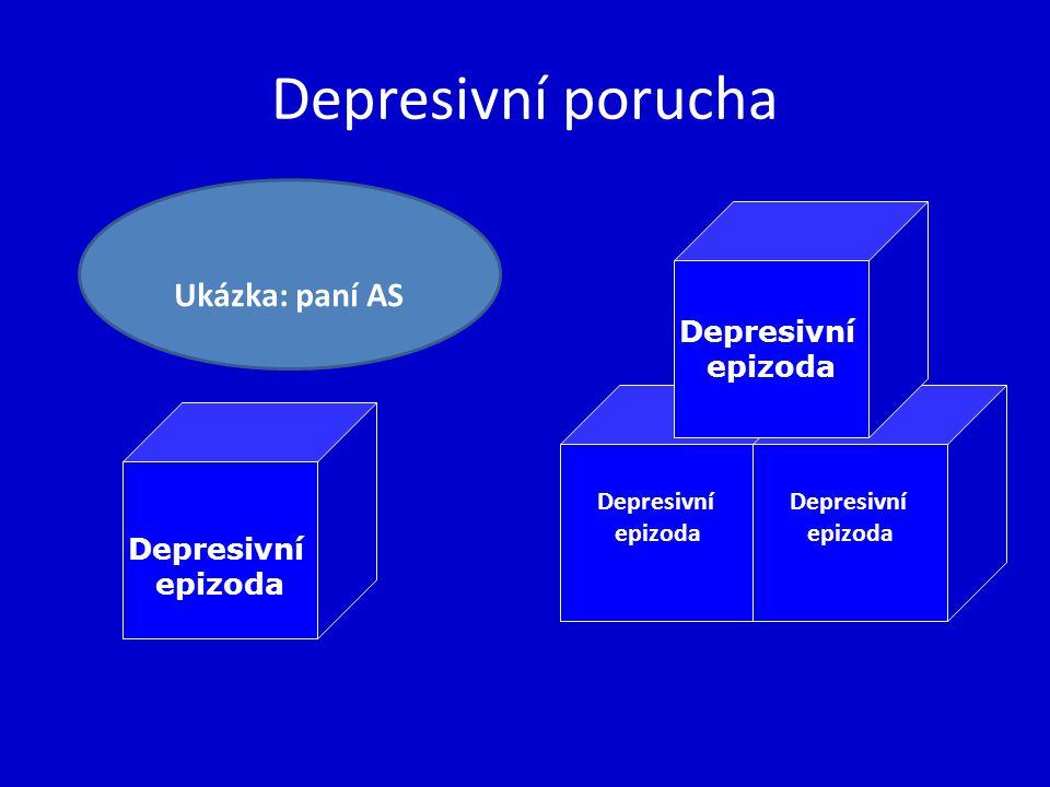 Depresivní porucha Ukázka: paní AS Depresivní epizoda Depresivní