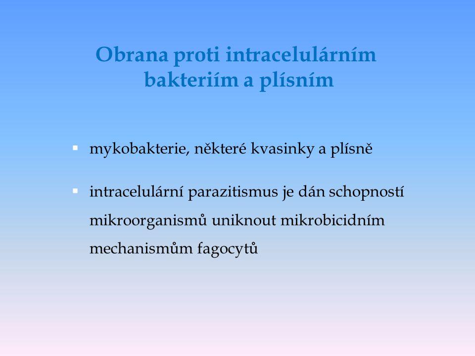 Obrana proti intracelulárním bakteriím a plísním