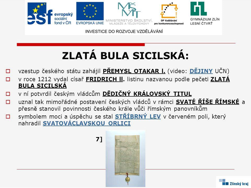 ZLATÁ BULA SICILSKÁ: vzestup českého státu zahájil PŘEMYSL OTAKAR l. (video: DĚJINY UČN)