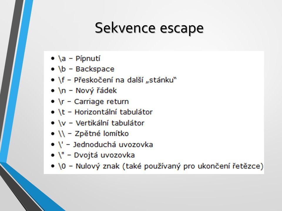 Sekvence escape