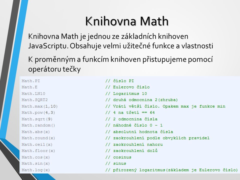 Knihovna Math
