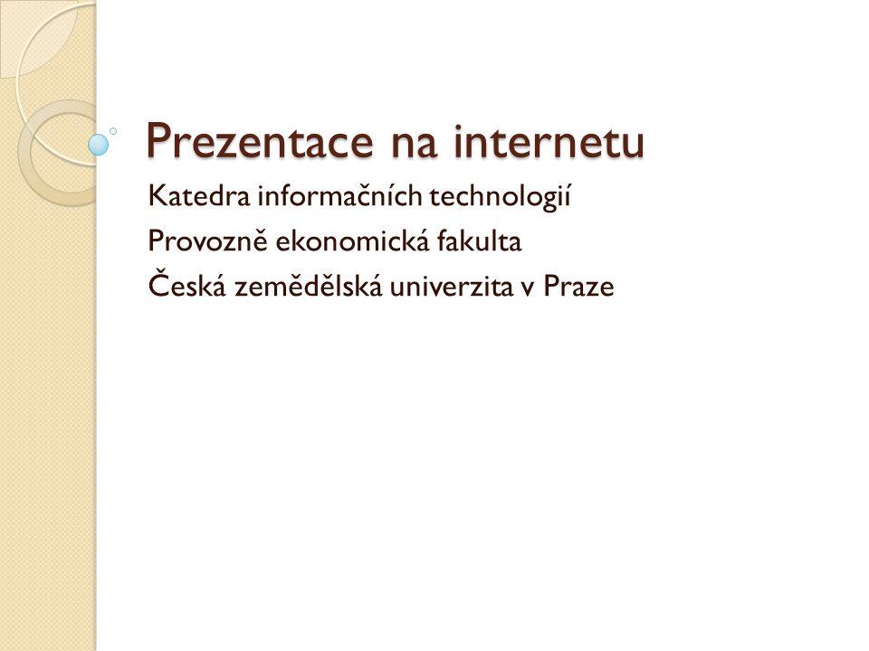 Prezentace na internetu