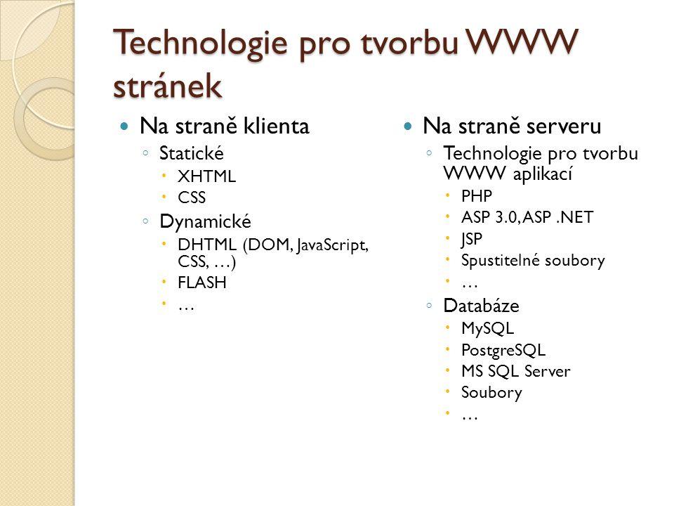 Technologie pro tvorbu WWW stránek