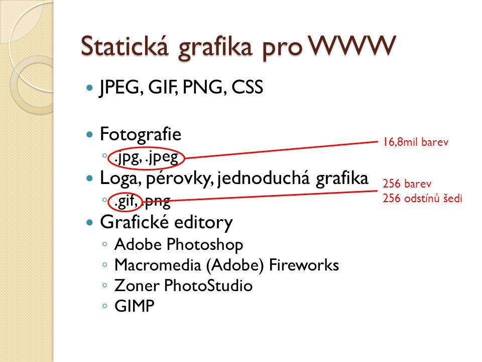 Statická grafika pro WWW