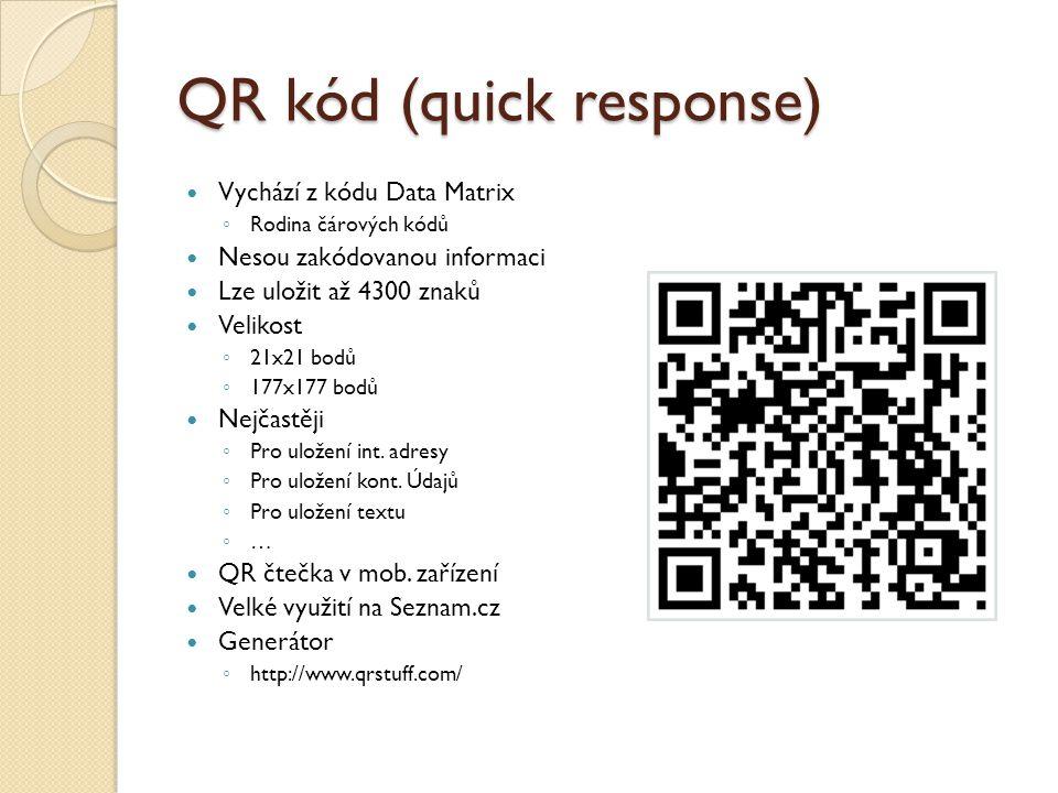 QR kód (quick response)