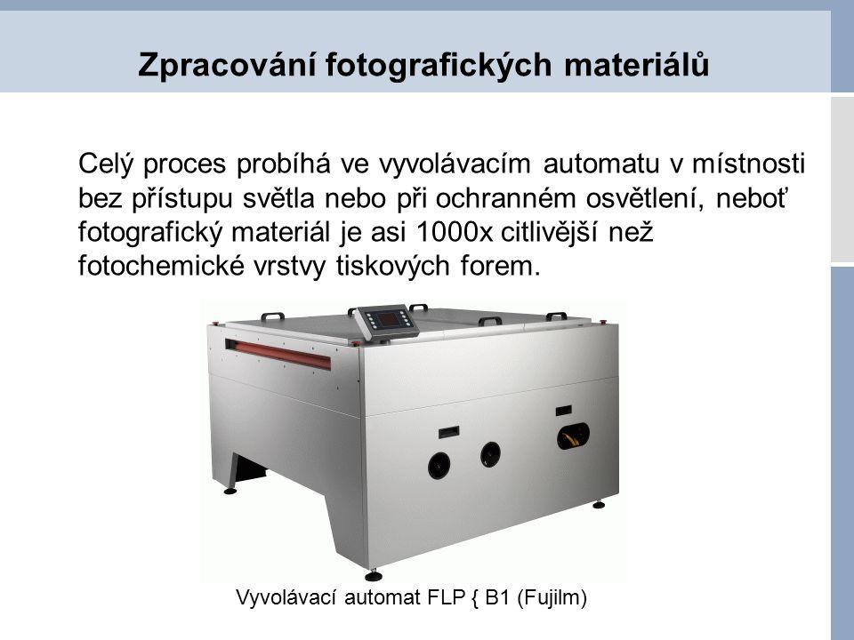 Zpracování fotografických materiálů