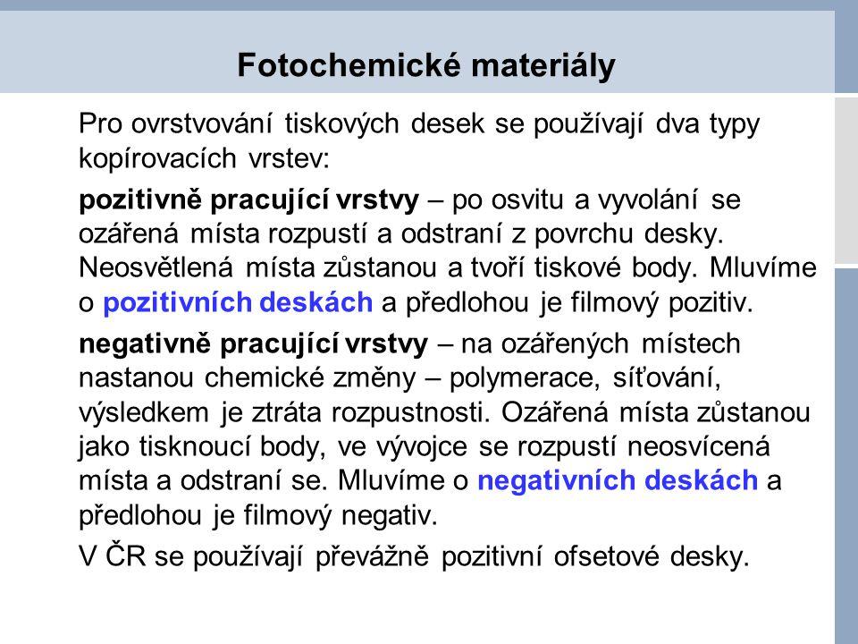 Fotochemické materiály