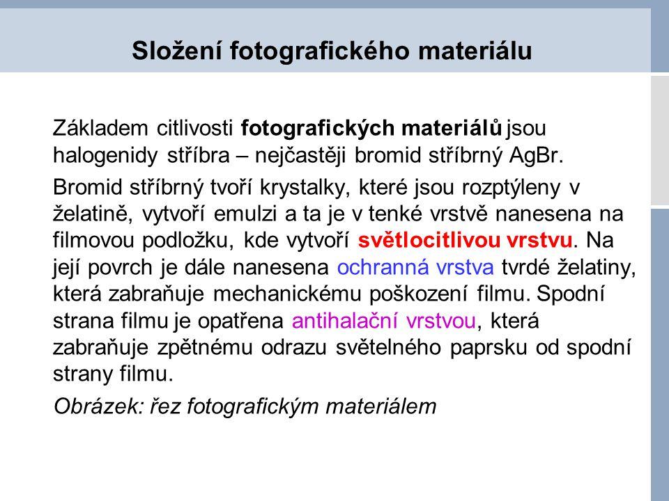 Složení fotografického materiálu