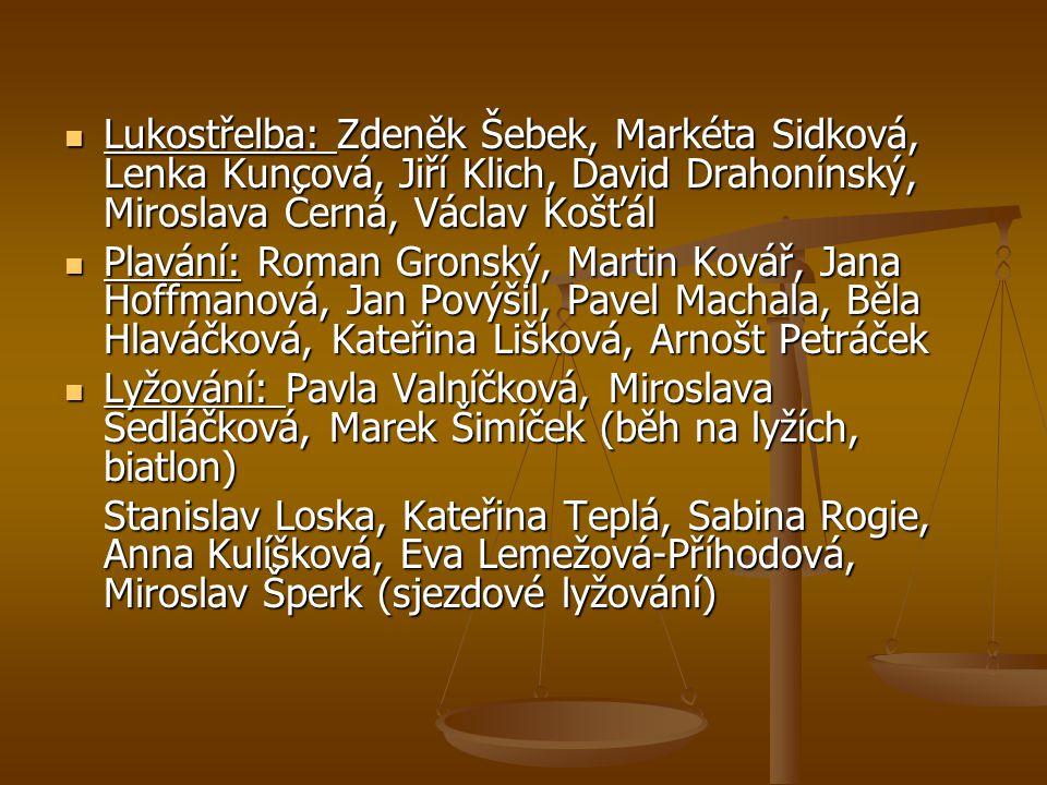Lukostřelba: Zdeněk Šebek, Markéta Sidková, Lenka Kuncová, Jiří Klich, David Drahonínský, Miroslava Černá, Václav Košťál