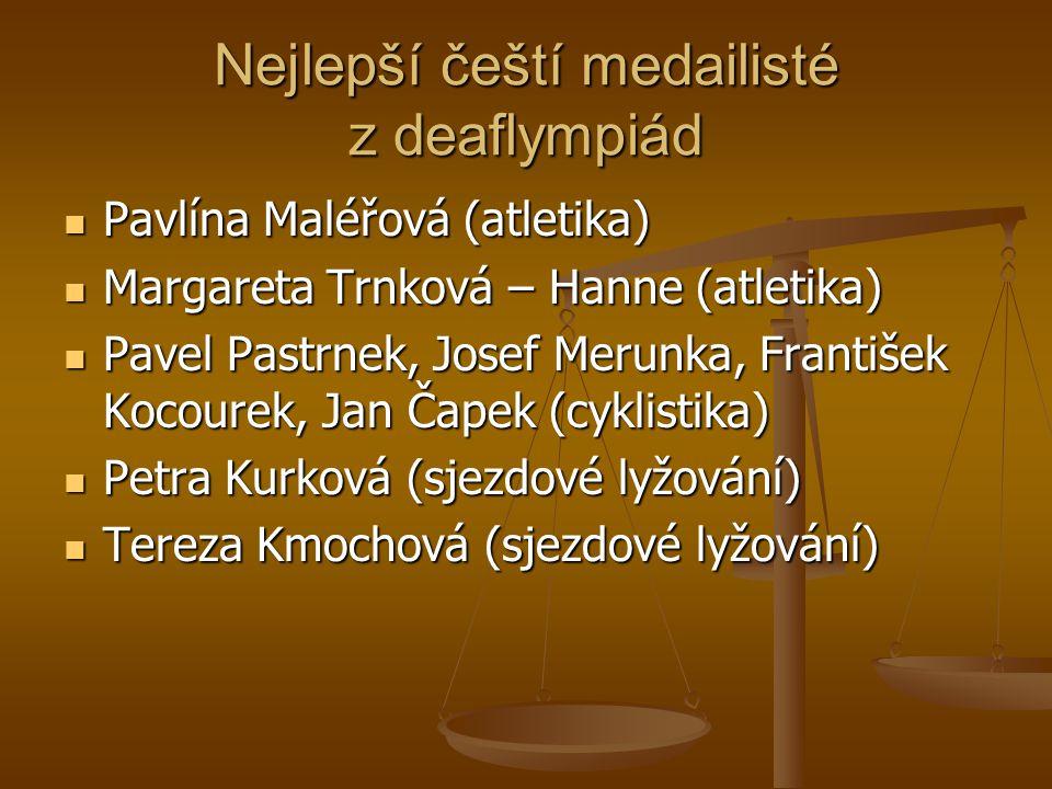 Nejlepší čeští medailisté z deaflympiád