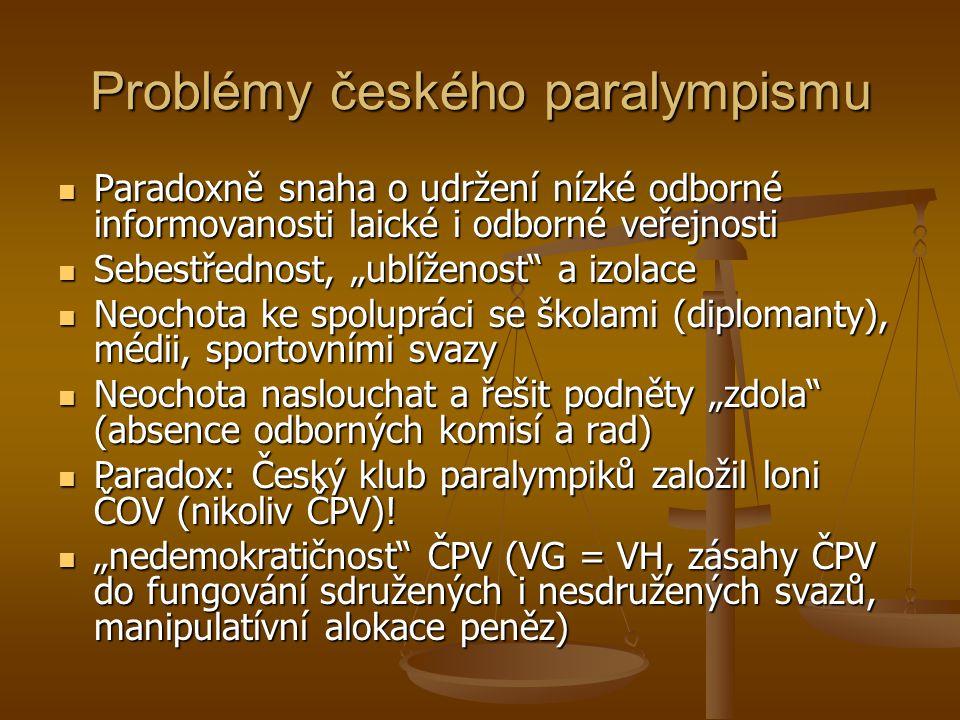 Problémy českého paralympismu