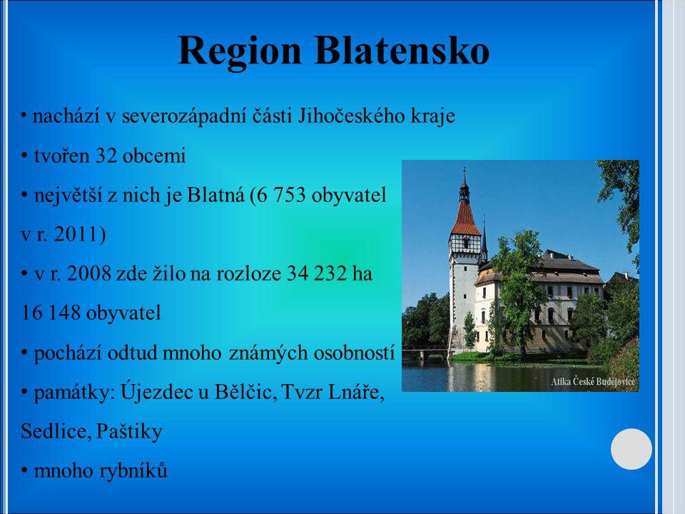 Region Blatensko tvořen 32 obcemi