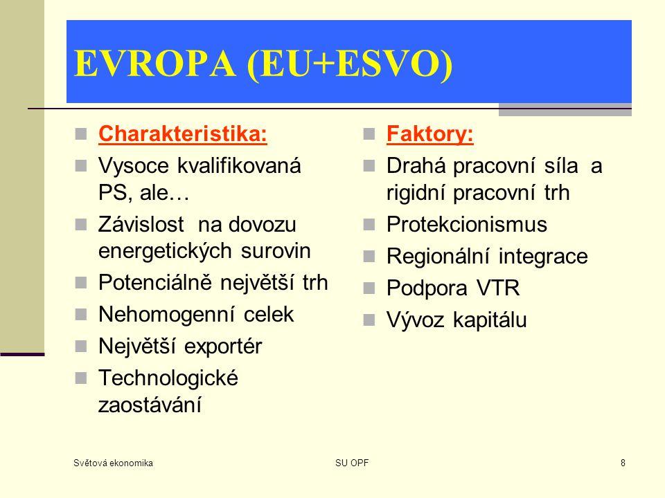 EVROPA (EU+ESVO) Charakteristika: Vysoce kvalifikovaná PS, ale…