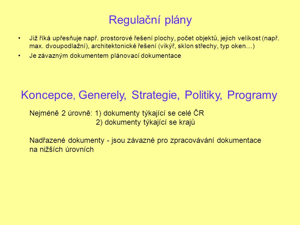 Koncepce, Generely, Strategie, Politiky, Programy