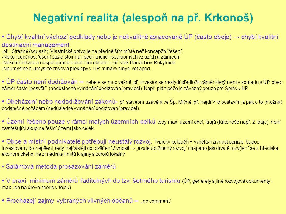 Negativní realita (alespoň na př. Krkonoš)