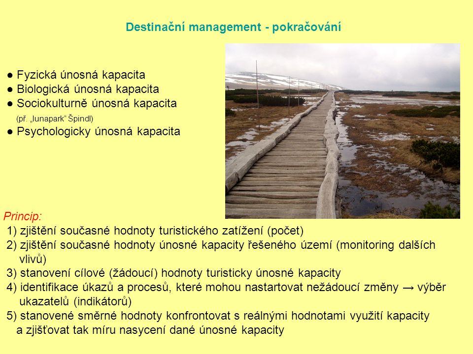 Destinační management - pokračování