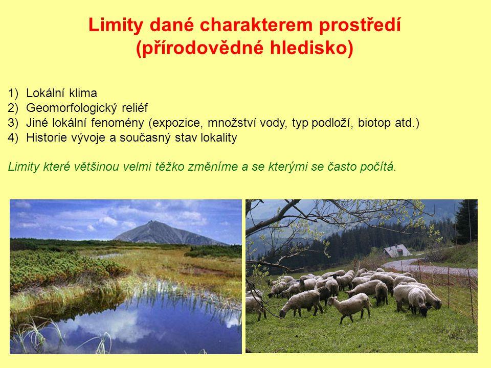 Limity dané charakterem prostředí (přírodovědné hledisko)