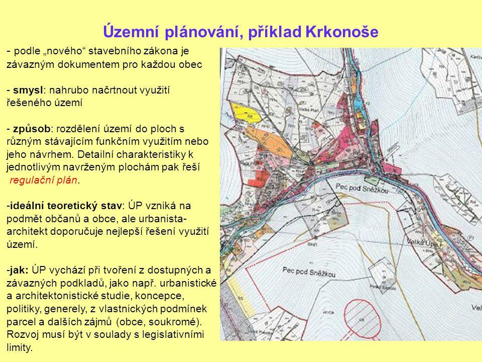 Územní plánování, příklad Krkonoše