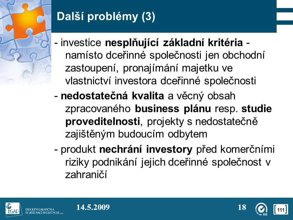 Další problémy (3)