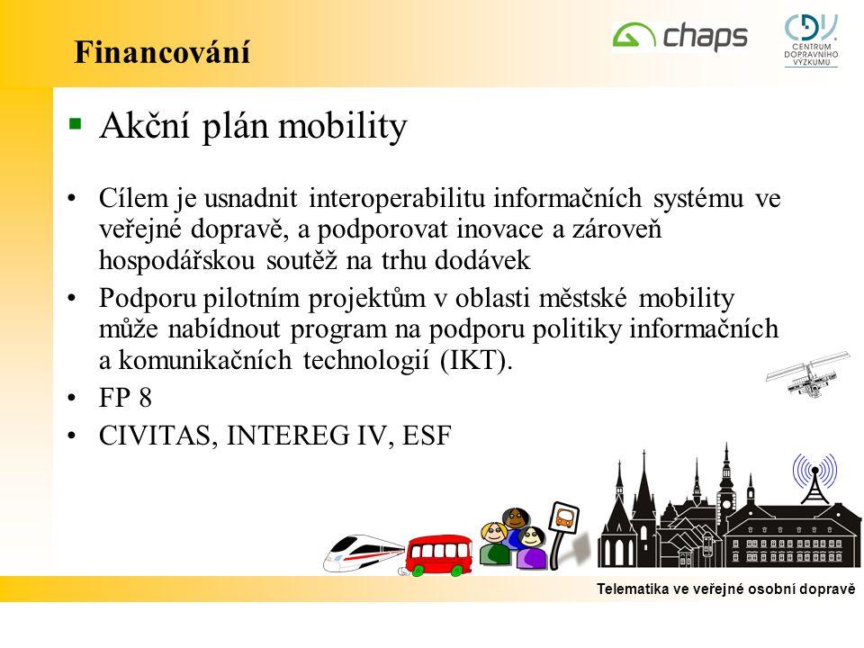 Akční plán mobility Financování