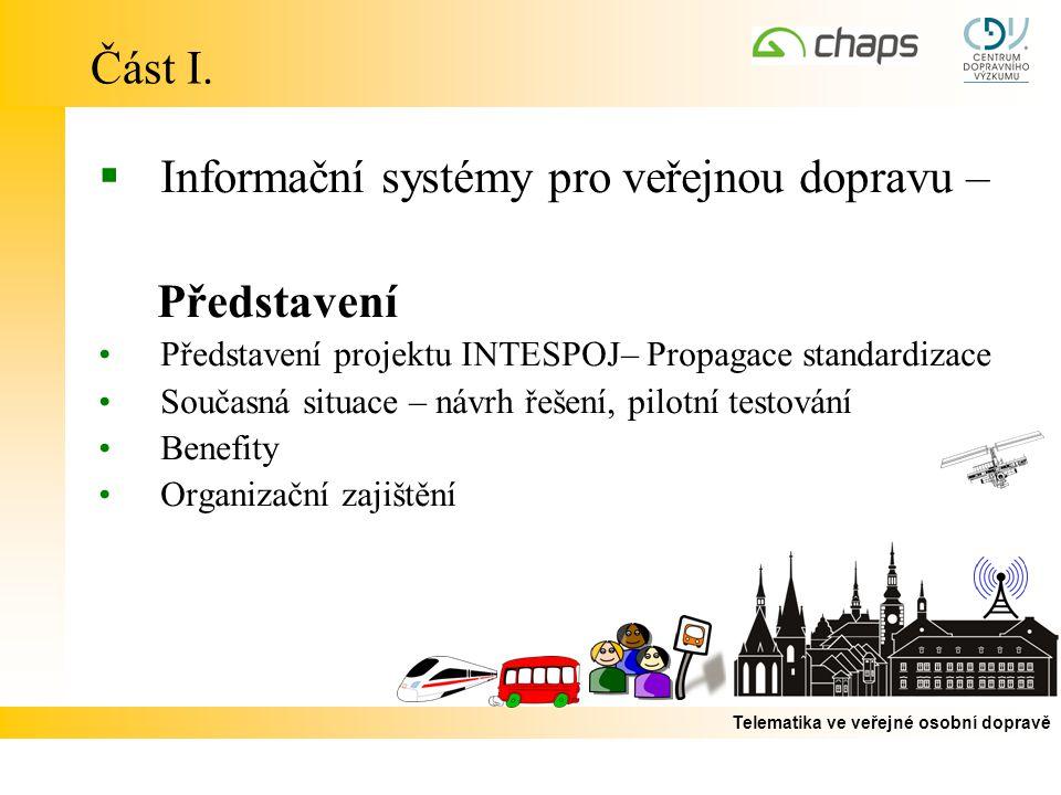 Informační systémy pro veřejnou dopravu – Představení