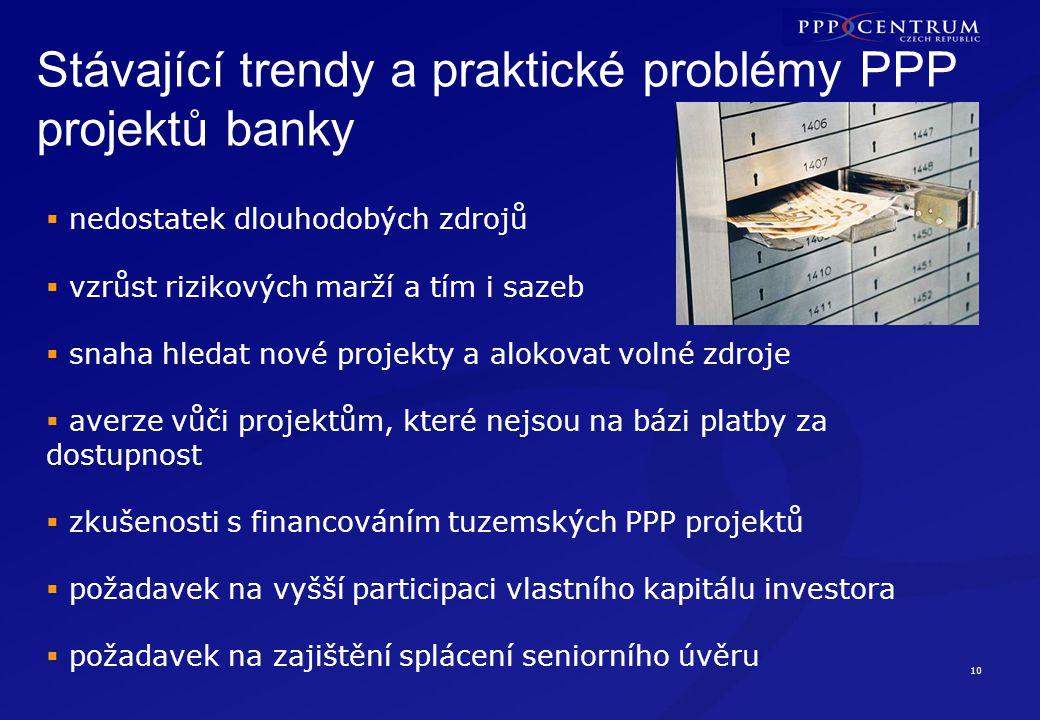 Stávající trendy a praktické problémy PPP projektů – veřejný zadavatel