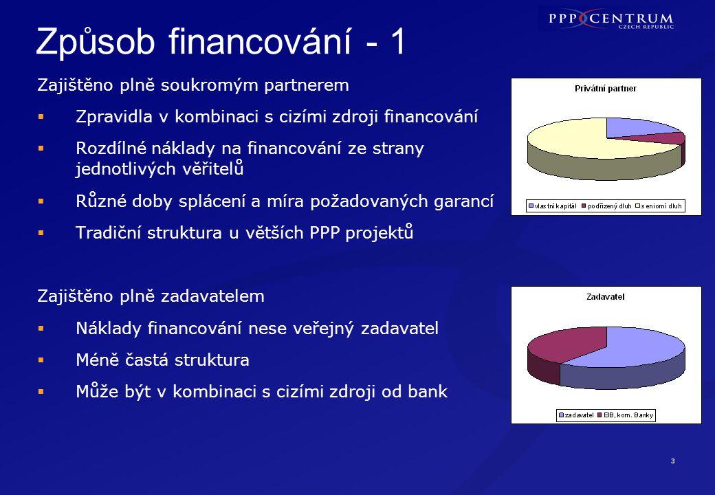 Způsob financování - 2 Kombinace fondů EU a PPP